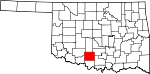 State map highlighting Stephens County