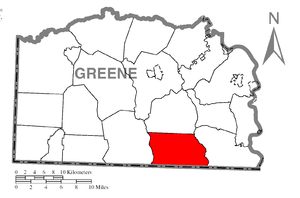 Perry Township, Greene County, Pennsylvania - Image: Map of Perry Township, Greene County, Pennsylvania Highlighted