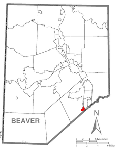 Map of South Heights, Beaver County, Pennsylvania Highlighted.png