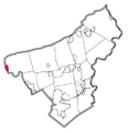 Map of Walnutport, Northampton County, Pennsylvania Highlighted.png