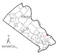 Map of Yardley, Bucks County, Pennsylvania Highlighted.png