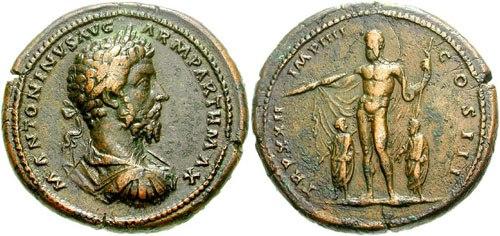 Marcus Aurelius, AE medallion, AD 168, Gnecchi II 52