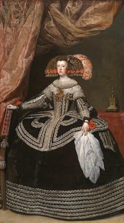 Retrato de Mariana de Austria, por Diego Velázquez (1652)