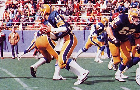 Dan Marino quarterbacks Pitt in a 1979 rout of Cincinnati in what would be the first of three straight 11-1 seasons MarinoColorPitt1979.jpg