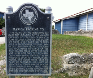 Fulton, Texas - Site of former meatpacking plant
