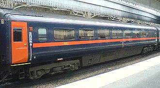 Railroad car - British Rail Mark 3 coach, an all-steel car from the 1970s