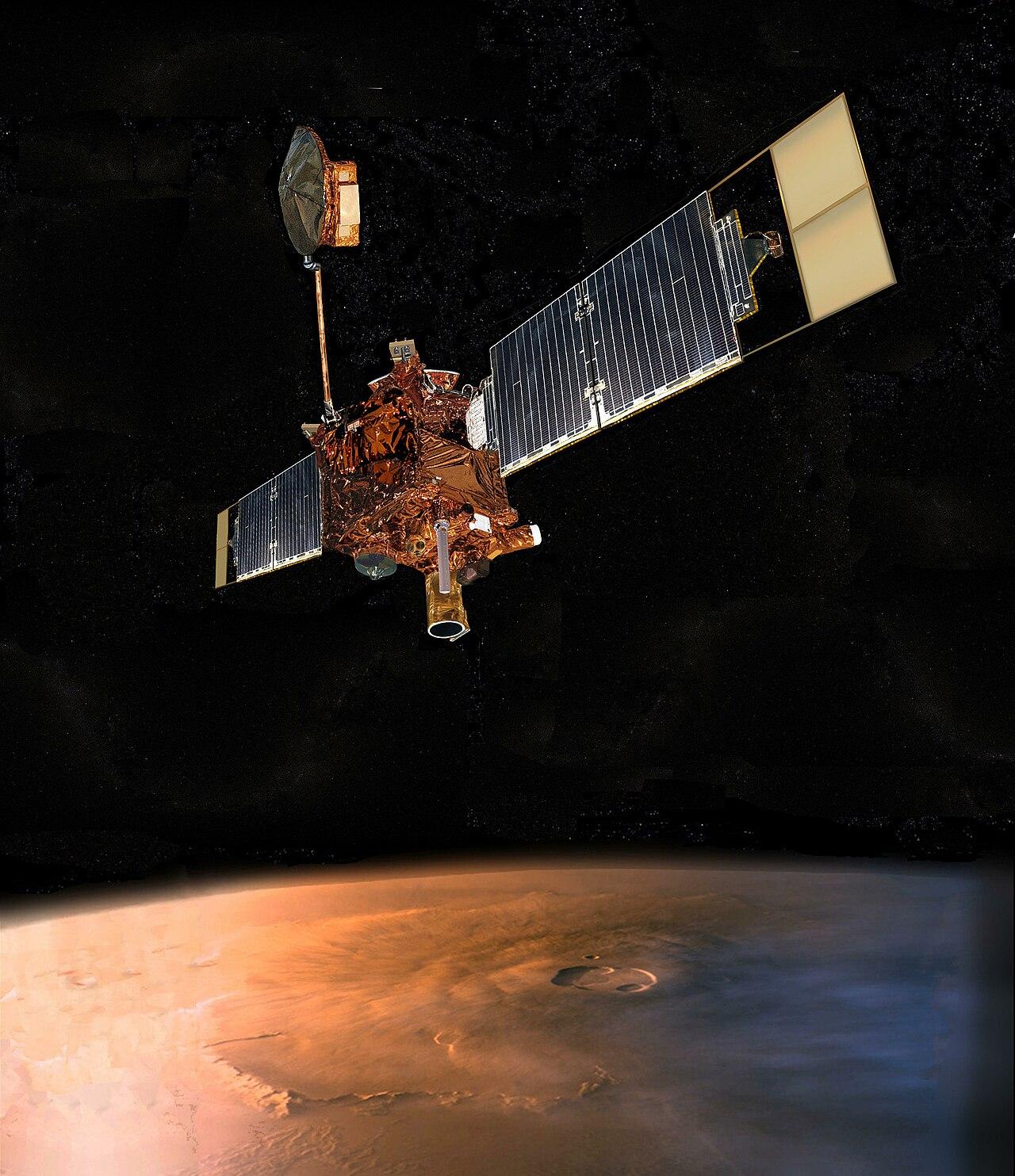 Artist concept of the Mars Global Surveyor.