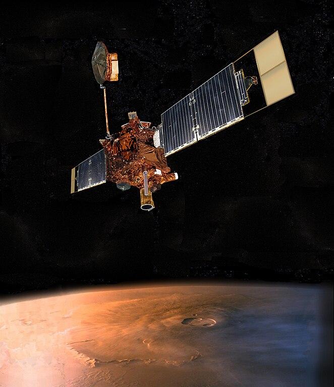 Gambaran artistik Mars Global Surveyor
