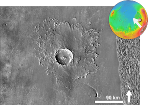 Martian impact crater Tooting based on day THEMIS.png