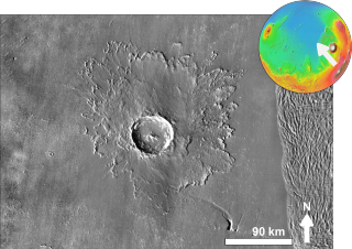 Tooting (crater) crater on Mars