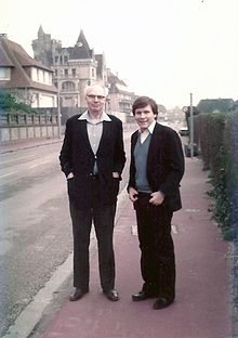 Martin with Carroll L. Wilson, Normandy, 1976