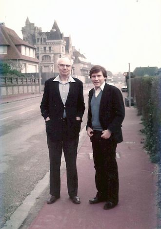 William Flynn Martin - Martin with Carroll L. Wilson, Normandy, 1976
