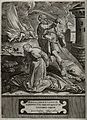 Martyrdom of Saint Barbara. Engraving by Wierix after Jan va Wellcome V0031660.jpg