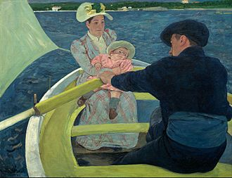 Mary Cassatt - The Boating Party by Mary Cassatt, 1893–94, oil on canvas, 35½ × 46 in., National Gallery of Art, Washington