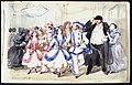 Maskeradbal 14 april 1856. Oscar Björnsjerna och C F Piper bland övriga gäster - Nordiska museet - NMA.0037504.jpg