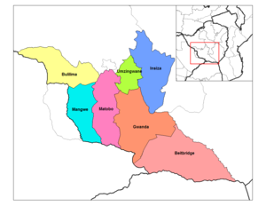 Matabeleland South Province - Districts of Matabeleland South