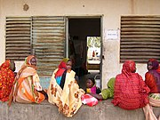 A Chadian maternity ward. Although improving, Chad's infrastructure remains far less developed than that of its northern neighbours.