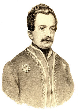 Ljudevit Gaj, Croatian linguist, politician, journalist and writer. He was one of the central figures of the pan-Slavist Illyrian Movement Matica, ljudevit gaj.jpg