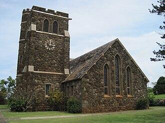 Makawao Union Church - Image: Maui Makawao Union Church westside