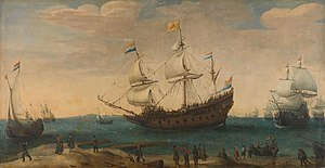VOC ship Mauritius ca 1618 [?] - Painting from the Rijksmuseum, Amsterdam