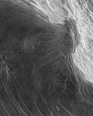 Maxwell Montes - Image: Maxwell Montes of planet Venus
