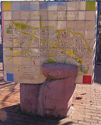 Mayfield, New South Wales - A mosaic map of Mayfield