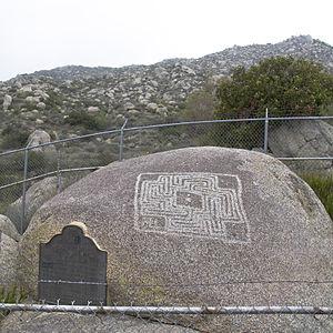Hemet Maze Stone - Maze Stone with plaque