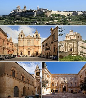 Mdina City and Local council in Northern Region, Malta