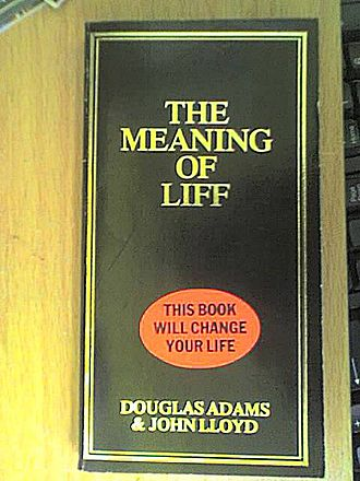 The Meaning of Liff - The original 1983 UK cover of the book, with sticker.