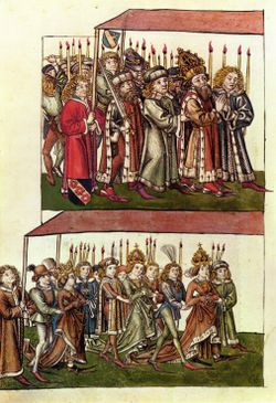 Sigismund and Barbara of Celje at the Council of Constance.