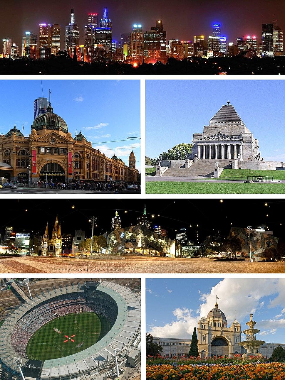 Melbourne city montage