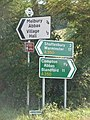 Melbury Abbas, direction signs on the A350 - geograph.org.uk - 1509653.jpg