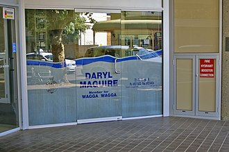 Electoral district of Wagga Wagga - The office of the member for Wagga Wagga