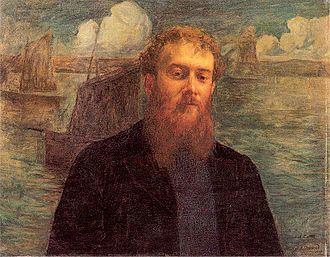 Charles Cottet - Émile-René Ménard's Portrait de Cottet (1896)