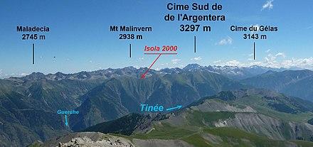 Massif Du Mercantour Argentera Wikip 233 Dia