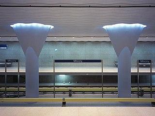 Młociny metro station Warsaw metro station