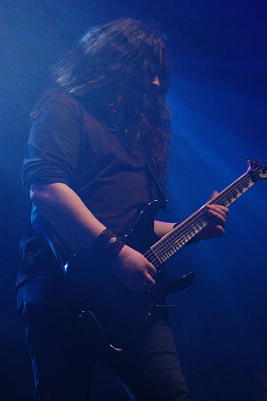 Hamish Glencross during My Dying Bride performance on Metalmania 2007 festival in Katowice.