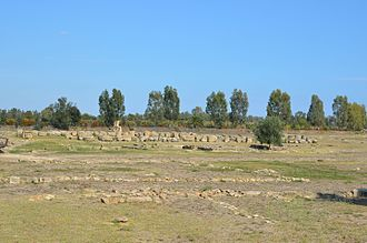 Metapontum - The remains of the four temples