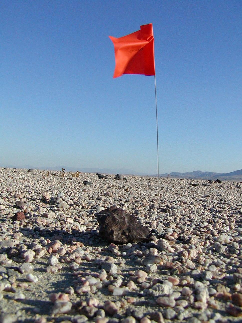 Meteorite hunting in Mojave desert