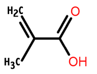 Methacrylic acid structure.png