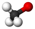 Ball-and-stick model of the methoxide anion