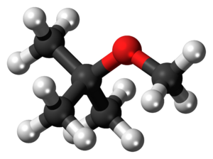 Methyl tert-butyl ether - Image: Methyl tert butyl ether 3D ball