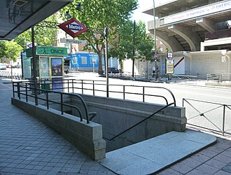 Campo de Fútbol de Vallecas - Image: Metro de Madrid Portazgo 01