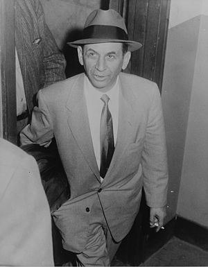 Meyer Lansky at 54 St. police station, New Yor...
