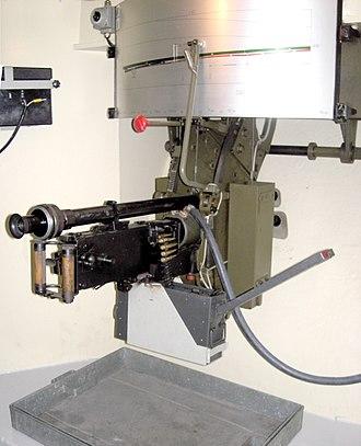 "Toblerone line - Maxim Machine Gun Model 11 in the ""Villa Rose"""