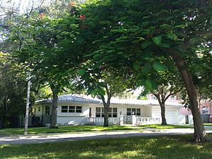 National Register of Historic Places listings in Miami - Image: Miami, FL Bay Shore Historic District house