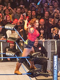Mickie James at TNA Impact Wrestling TV taping 2012 (2).jpg
