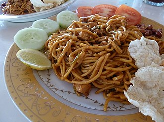 Acehnese people - Mie Aceh, Acehnese fried noodles