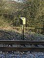 Milepost near Wingfield Tunnel - geograph.org.uk - 1231611.jpg