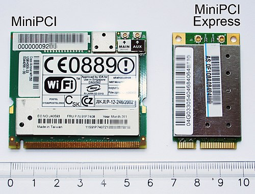 MiniPCI and MiniPCI Express cards